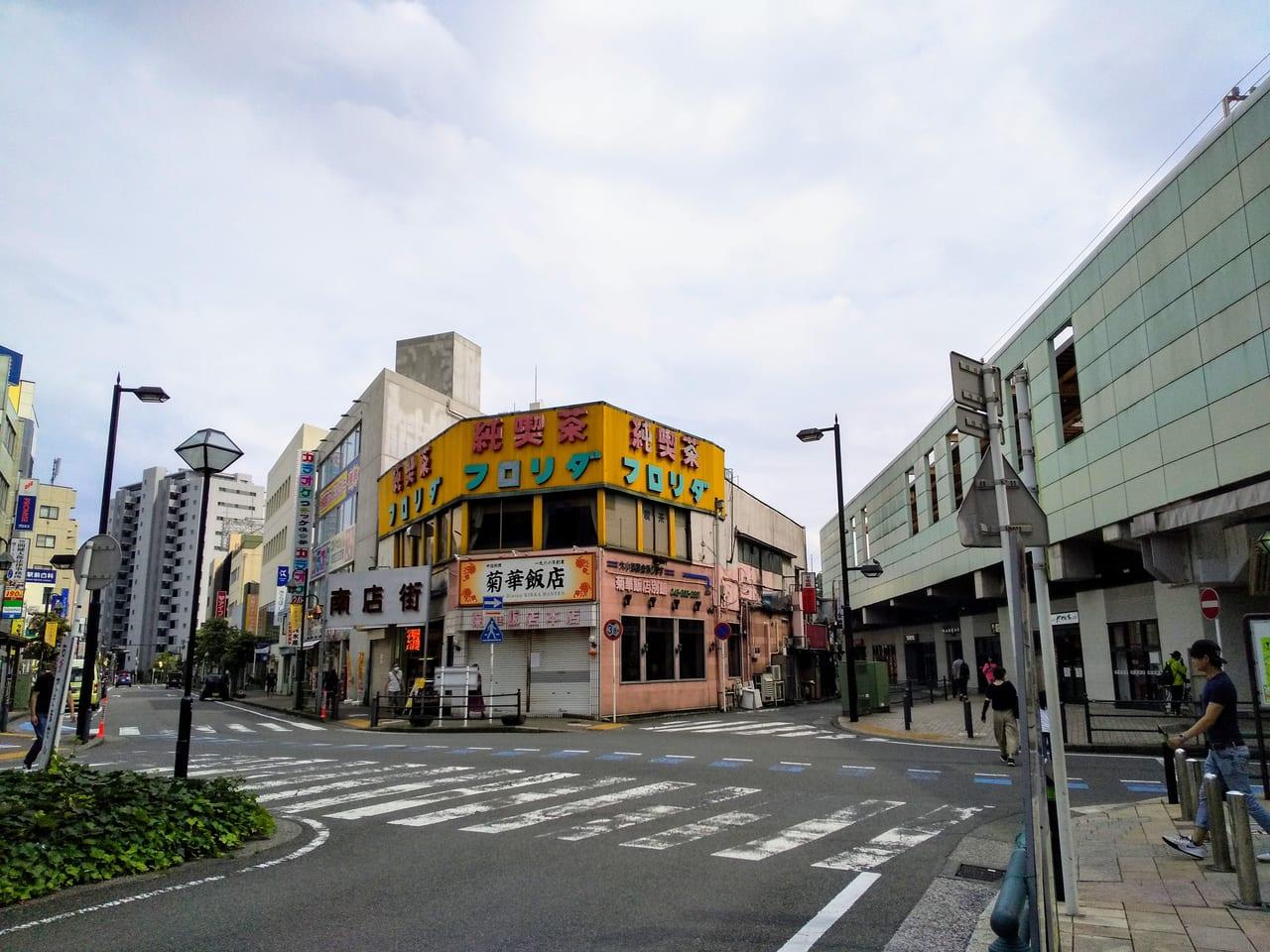 大和駅周辺の商店街の様子